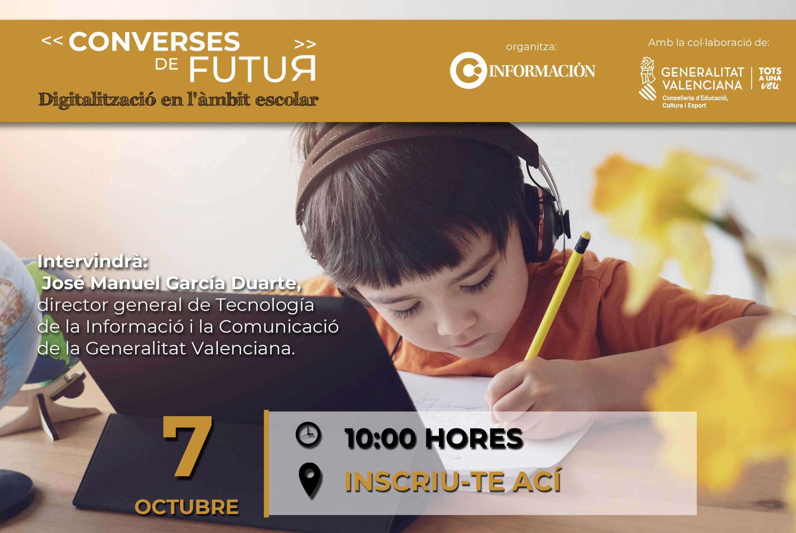 CONVERSES DE FUTUR: Digitalització en l'àmbit escolar