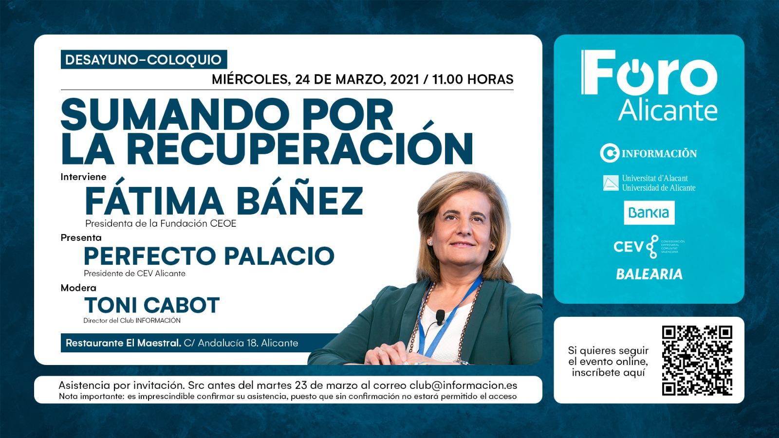 FORO ALICANTE con FÁTIMA BÁÑEZ