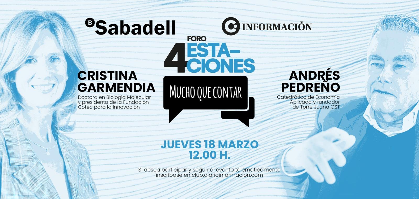 FORO 4 ESTACIONES con Cristina Garmendia y Andrés Pedreño