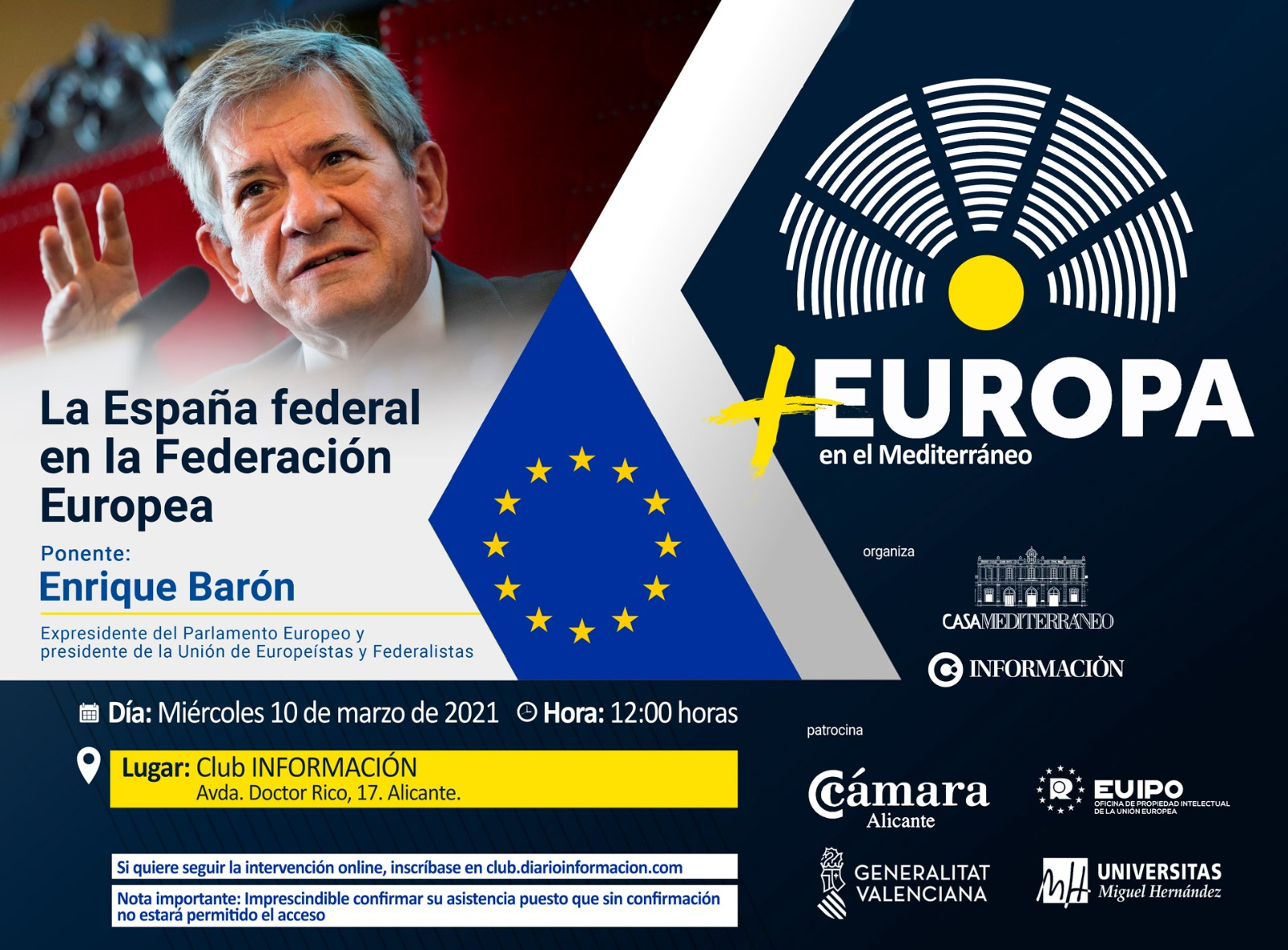 FORO +EUROPA con ENRIQUE BARÓN