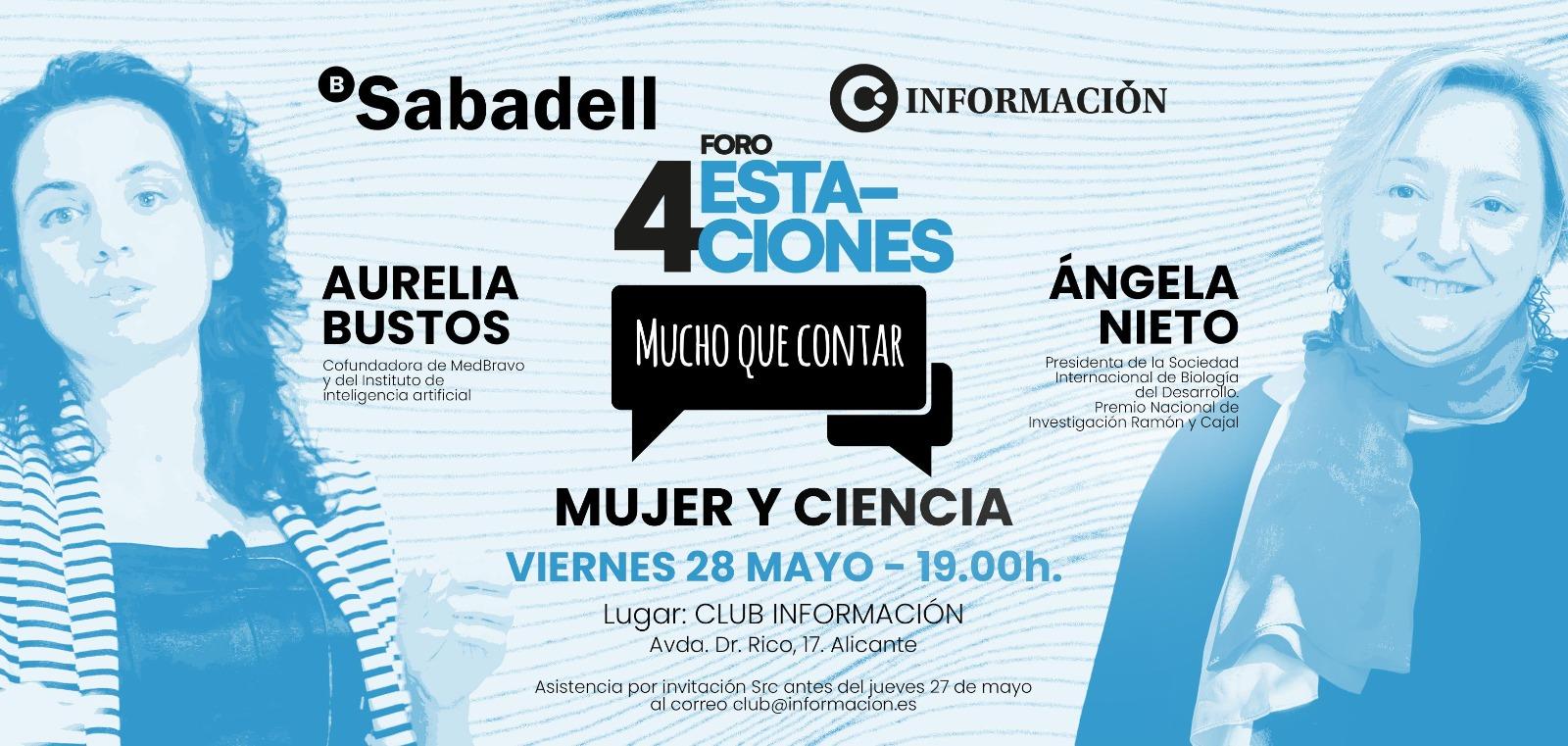 """FORO 4 ESTACIONES """"MUJER Y CIENCIA"""" con AURELIA BUSTOS y ÁNGELA NIETO"""